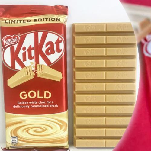 KitKat Launches Limited Edition Gold Chocolate Bar