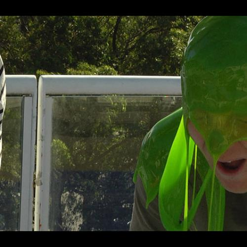 Mike E Cops A Face Full Of Green Slime