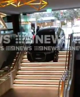 Ride-Share Driver Accidentally Drives Down Set Of Stairs In Bondi