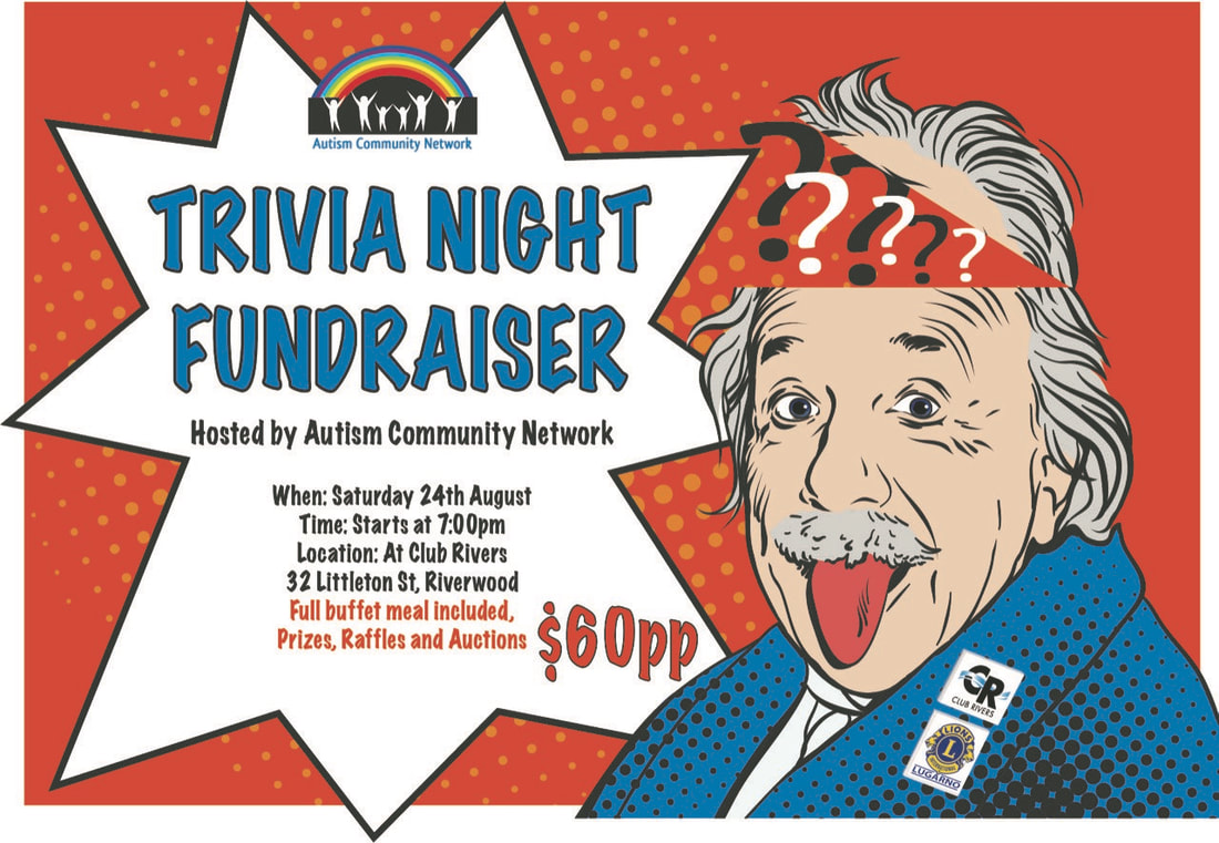Autism Community Network Trivia Night Poster
