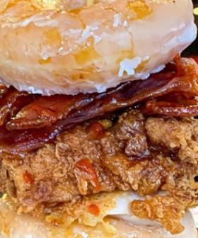 Milky Lane Has Recreated The KFC Chicken And Doughnuts Burger