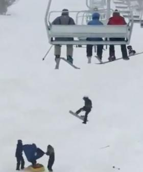 Snowboarder Plunges Metres From Chairlift At Perisher Ski Resort