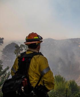 Celebrities Flee Fast Moving California Fire