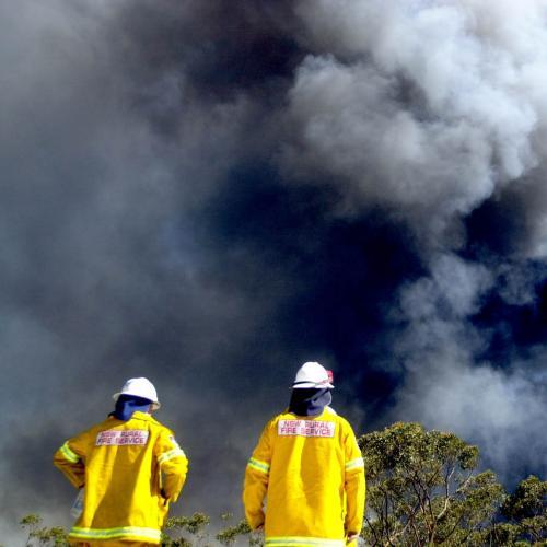 Heavy Smoke Haze Blankets Sydney After Out-Of-Control Bushfire In NSW