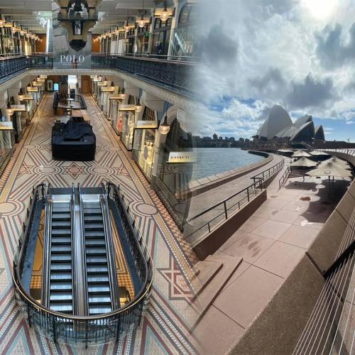 Eerie Photos Of Sydney's Busiest Spots Show City As A Ghost Town Amid The Coronavirus Pandemic