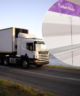 Truck Carrying Load Of Toilet Paper Crashes On Sydney's M4
