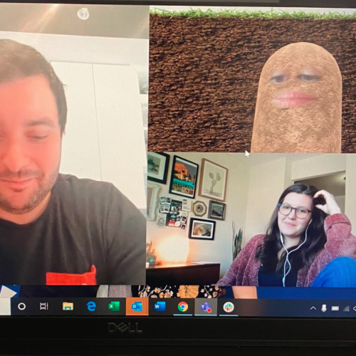 Boss Turns Herself Into A Potato On Work Live Stream Meeting & Can't Turn It Off