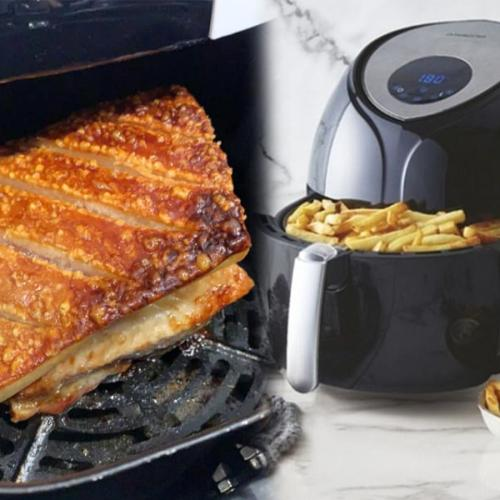 Everyone's Cooking Pork In Their Air Fryer For Perfectly Crispy Crackling Every Time