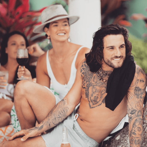 Alex From Bachelor In Paradise Has A Tattoo Of Angie On His Arm