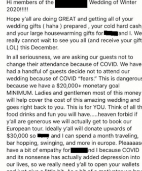 Bride Slammed Online After Sharing Her Wedding Demands