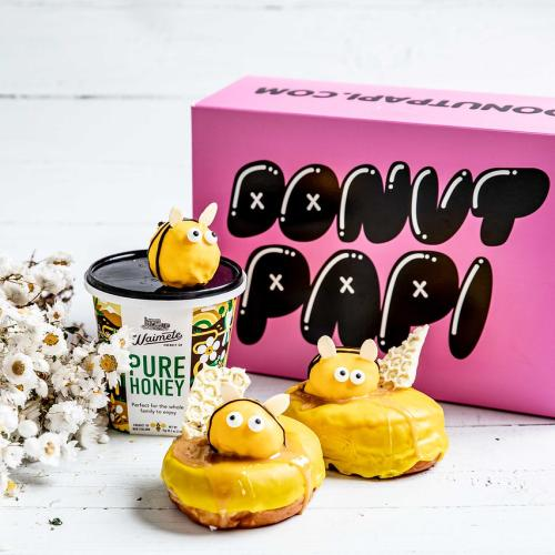 Donut Papi's Releasing Adorable 'Save The Bees' Honey-Filled Doughnuts