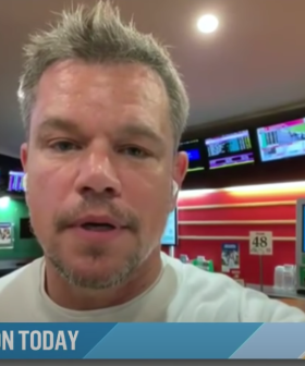 Matt Damon Does Live Interview From A TAB Like A True Blue Aussie