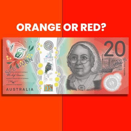 Is The Aussie $20 Note Orange Or Red?